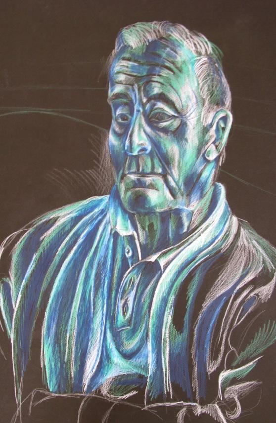 'Grandpa Niko', colour pencil on card