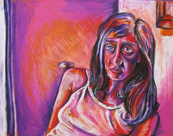 'Josefine', oil pastel on card, not for sale