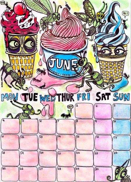 june 2011 calendar page. June 2012 calendar page.