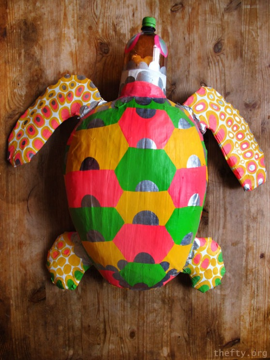 Plastic Turtle Sculpture by Helena Maratheftis