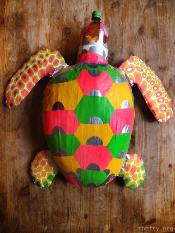 Plastic Turtle Sculpture by Helena Maratheftis